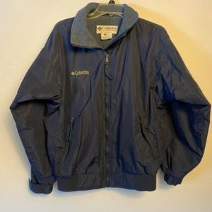 Columbia Womens Jacket Medium Navy Blue Full Zip